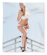 Outdoor Lingerie Portrait Fleece Blanket
