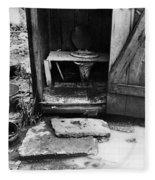 Outdoor Toilet, 1935 Fleece Blanket
