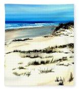 Outer Banks Sand Dunes Beach Ocean Fleece Blanket