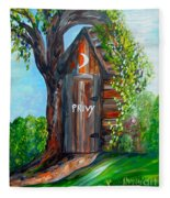 Outhouse - Privy - The Old Out House Fleece Blanket
