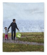 Outing In Autumn Fleece Blanket