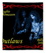 Outlaws Billy Jones And Hughie Thomasson Fleece Blanket
