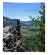 Outlook From The Ridge Fleece Blanket