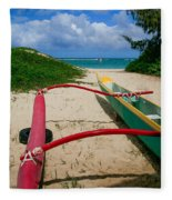 Outrigger Beach Fleece Blanket