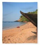 Outrigger On Cola Beach Fleece Blanket