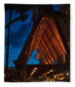 Outrigger Reef On The Beach Fleece Blanket