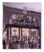 Outside The Theatre Royal, Drury Lane Fleece Blanket
