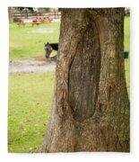 Oval Tree Art Fleece Blanket