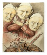 Over-pope-ulation - Cartoon Art Fleece Blanket