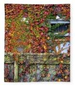 Over The Back Fence Fleece Blanket