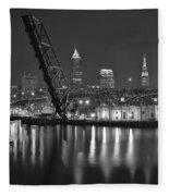 Over The Cuyahoga Fleece Blanket