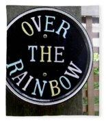 Over The Rainbow Fleece Blanket