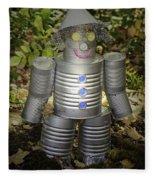 Over The Rainbow Garden Tin Man Fleece Blanket
