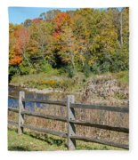 Over The River And Into The Through The Woods  Fleece Blanket