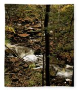 Over The River And Thru The Wood Fleece Blanket
