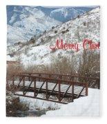 Over The River Fleece Blanket