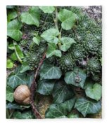 Overgrown Wall With Snail Fleece Blanket