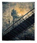 Overhead Bridge Fleece Blanket