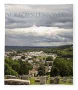 Overlooking Boyertown Fleece Blanket