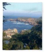 Overlooking Carmel Beach Fleece Blanket