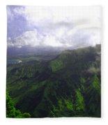 Overlooking Hanalei Bay Fleece Blanket
