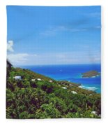 Overlooking Paradise Fleece Blanket