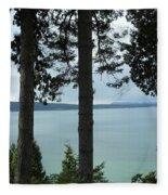 Overlooking The Ocean Fleece Blanket