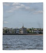 Overlooking The Sea Fleece Blanket