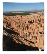 Overview At Bryce Canyon Fleece Blanket