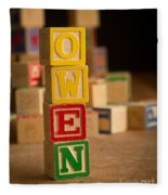 Owen - Alphabet Blocks Fleece Blanket