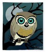 Owl 3 Fleece Blanket