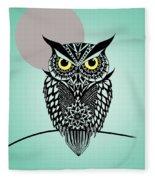 Owl 5 Fleece Blanket