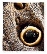 Owl Butterfly Wing Fleece Blanket