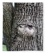 Owl Face Fleece Blanket