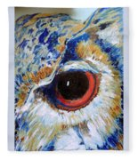Owl Gaze Fleece Blanket