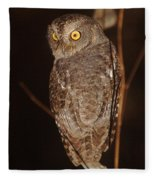 owl of Madagascar Fleece Blanket