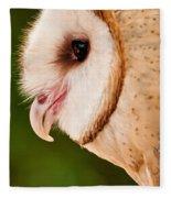Owl Profile Fleece Blanket