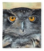 Owl Series - Owl 1 Fleece Blanket