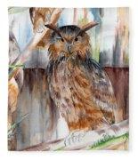 Owl Series - Owl 2 Fleece Blanket
