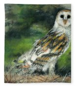 Owl Series - Owl 3 Fleece Blanket