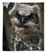 Owlet On The Watch Fleece Blanket