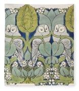 Owls, 1913 Fleece Blanket