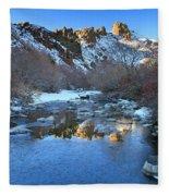Owyhee River Reflection Desert Light Fleece Blanket