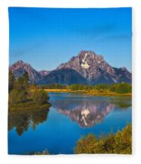 Oxbow Bend II Fleece Blanket
