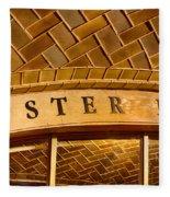 Oyster Bar Fleece Blanket