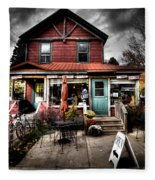Ozzie's Coffee Bar - Old Forge Ny Fleece Blanket