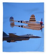P-38 And Jet Fleece Blanket