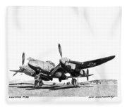 P 38 Lightning Fleece Blanket