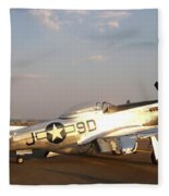 P-51 Mustang Fighter Aircraft Fleece Blanket