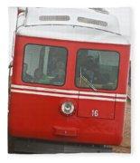 P P Cog Train Fleece Blanket